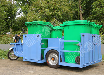 LB-BJ-C809 Electric Garbage Vehicle With Four Barrels