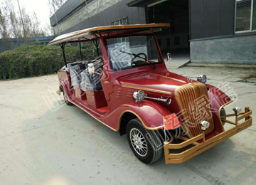 CE Approved Electric Vintage Golf Car With 6 Seats